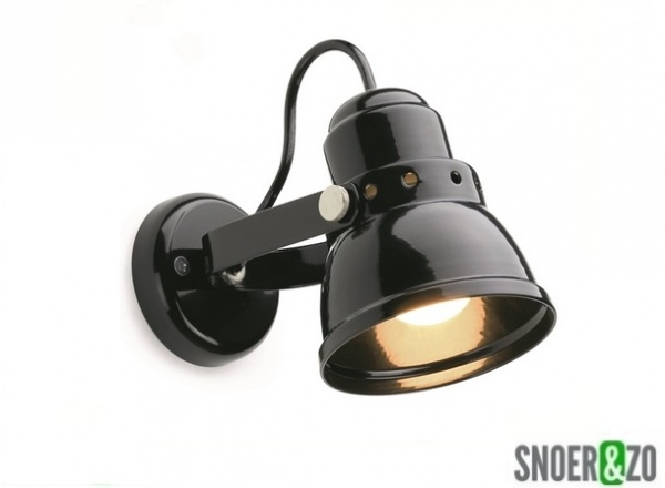 Wandlamp Met Snoer : Wandlamp metaal zwart e snoer zo