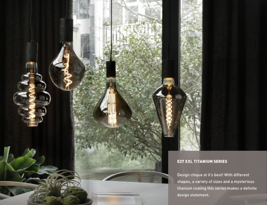 Calex Xxl Vienna Led Lamp 6w E27 Titanium Snoer Zo