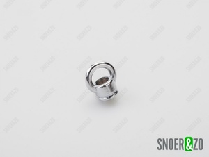 Ringnippel chroom 22mm