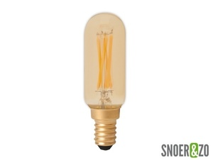 Calex LED filament T25x86mm buislamp 3.5W E14 goud dimbaar